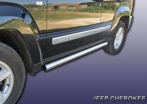JEEP CHEROKEE (2012)-Пороги d76 труба